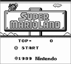 Pantallazo de Super Mario Land para Game Boy