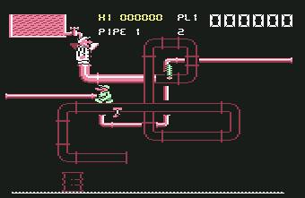 Pantallazo de Super Pipeline II para Commodore 64