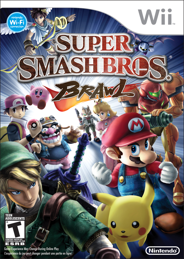 Caratula de Super Smash Bros. Brawl para Wii