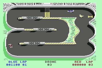 Pantallazo de Super Sprint para Commodore 64