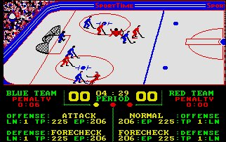 Pantallazo de SuperStar Ice Hockey para Atari ST