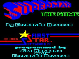 Pantallazo de Superman: The Game para Spectrum