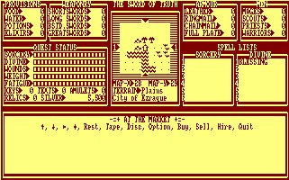 Pantallazo de Sword Of Truth, The para Amstrad CPC