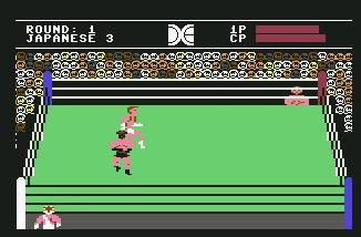 Pantallazo de Tag Team Wrestling para Commodore 64
