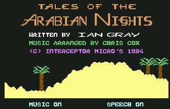 Pantallazo de Tales of the Arabian Nights para Commodore 64