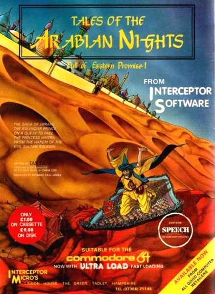 Caratula de Tales of the Arabian Nights para Amstrad CPC