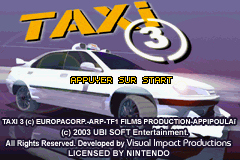 Pantallazo de Taxi 3 para Game Boy Advance