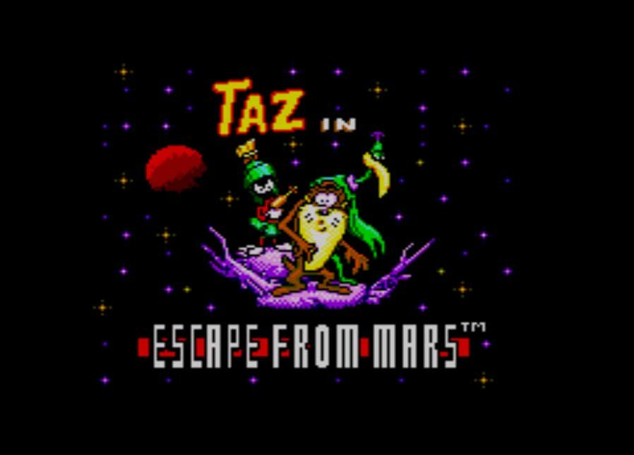 Pantallazo de Taz in Escape from Mars para Sega Master System