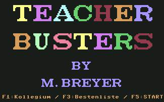 Pantallazo de Teacher Busters para Commodore 64