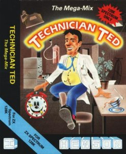 Caratula de Technician Ted: The Megamix para Spectrum
