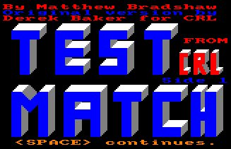Pantallazo de Test Match/Limited Overs Cricket para Amstrad CPC