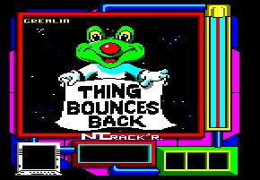 Pantallazo de Thing Bounces Back para Amstrad CPC