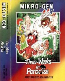 Caratula de Three Weeks In Paradise para Amstrad CPC
