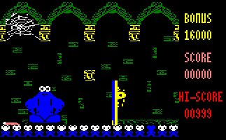 Pantallazo de Through The Trap Door para Amstrad CPC