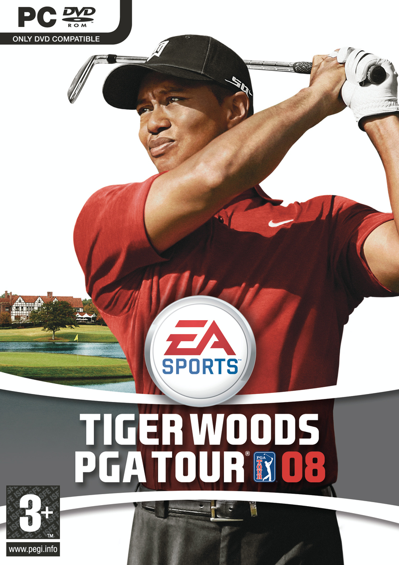 Caratula de Tiger Woods PGA Tour 08 para PC