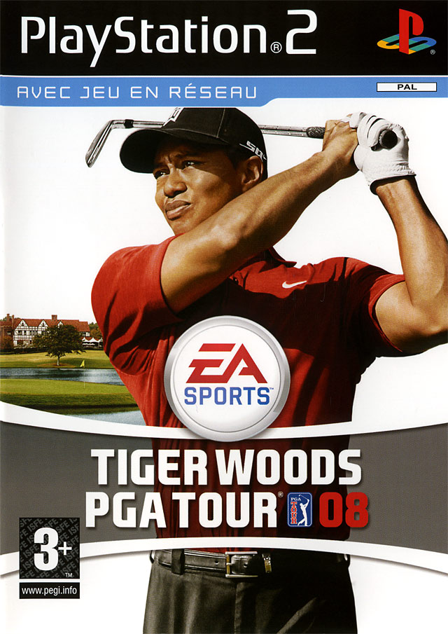 Caratula de Tiger Woods PGA Tour 08 para PlayStation 2