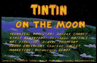 Pantallazo de Tin Tin on the Moon para Atari ST