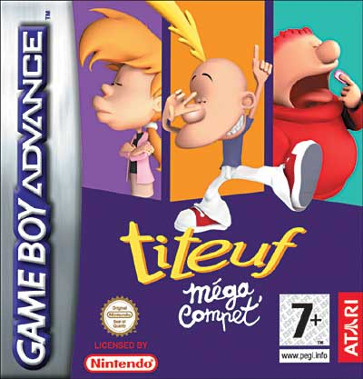Caratula de Titeuf Mega Compet para Game Boy Advance