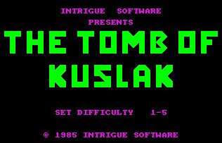 Pantallazo de Tomb Of Kuslak, The para Amstrad CPC