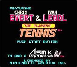 Pantallazo de Top Players' Tennis Featuring Chris Evert & Ivan Lendl para Nintendo (NES)