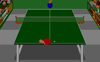 Pantallazo de Turtle Table Tennis Simulation para Atari ST