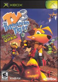 Caratula de Ty the Tasmanian Tiger 3: Night of the Quinkan para Xbox