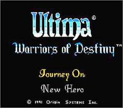 Pantallazo de Ultima: Warriors of Destiny para Nintendo (NES)