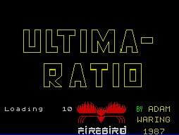 Pantallazo de Ultima Ratio para Spectrum