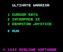 Pantallazo de Ultimate Warrior para Spectrum