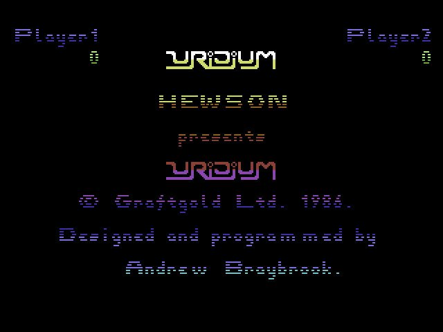 Pantallazo de Uridium para Commodore 64