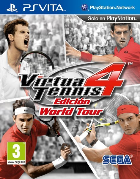 Caratula de Virtua Tennis 4: Edición World Tour para PS Vita