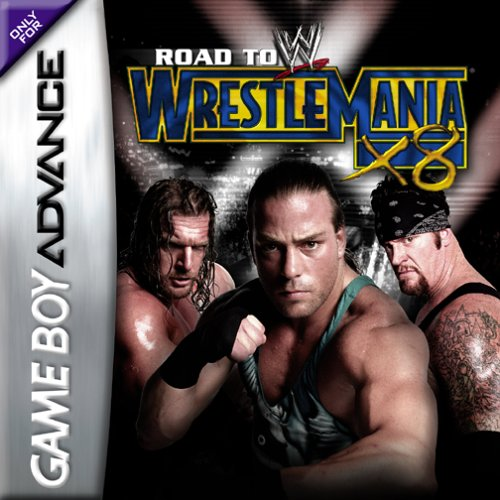 Caratula de WWE Road to WrestleMania X8 para Game Boy Advance
