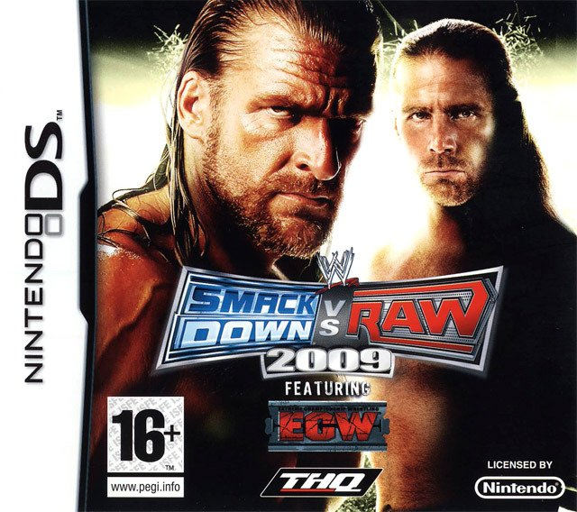 Caratula de WWE SmackDown vs. Raw 2009 para Nintendo DS