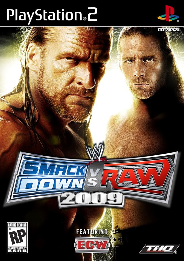 Caratula de WWE SmackDown vs. Raw 2009 para PlayStation 2