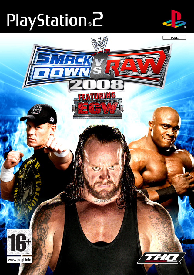 Caratula de WWE Smackdown Vs Raw 2008 para PlayStation 2