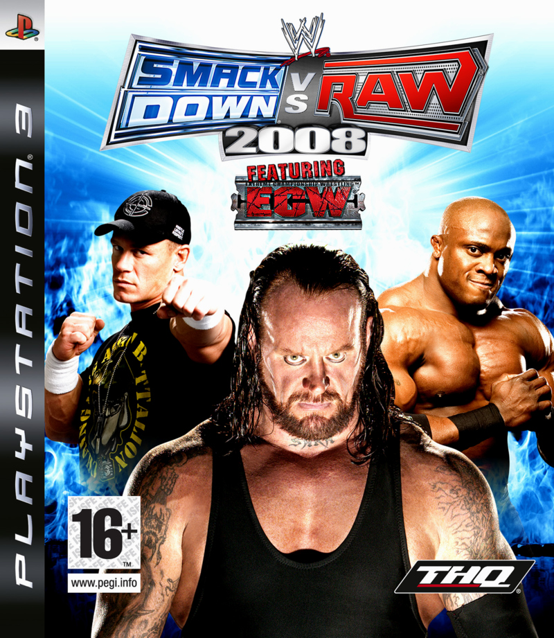 Caratula de WWE Smackdown Vs. Raw 2008 para PlayStation 3