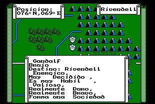 Pantallazo de War In Middle Earth para Amstrad CPC