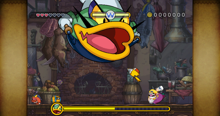Pantallazo de Wario Land: The Shake Dimension para Wii