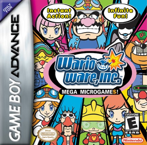 Caratula de WarioWare, Inc.: Mega Microgame$! para Game Boy Advance