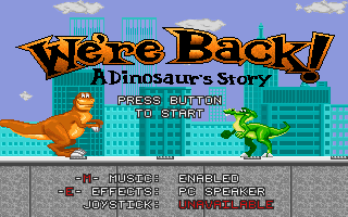Pantallazo de We're Back: A Dinosaur's Story para PC