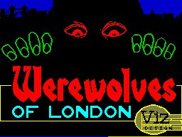 Pantallazo de Werewolves of London para Spectrum