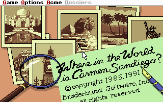 Pantallazo de Where in The World is Carmen Sandiego? (Enhanced) para PC