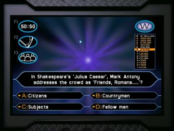 Pantallazo de Who Wants to be a Millionaire CD-ROM 1st Edition: General Mills Cereal Promotion para PC