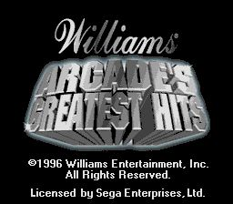 Pantallazo de Williams Arcade's Greatest Hits para Sega Megadrive