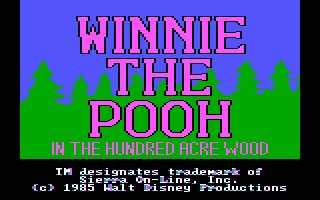 Pantallazo de Winnie The Pooh in Hundred Acres Wood para PC