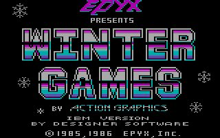 Pantallazo de Winter Games para PC