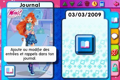 Pantallazo de Winx Club: Secret Diary 2009 para Nintendo DS