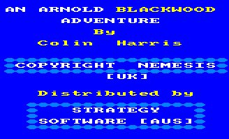 Pantallazo de Wise And Fool Of Arnold Blackwood para Amstrad CPC