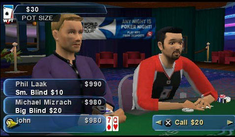 Pantallazo de World Poker Tour para PSP