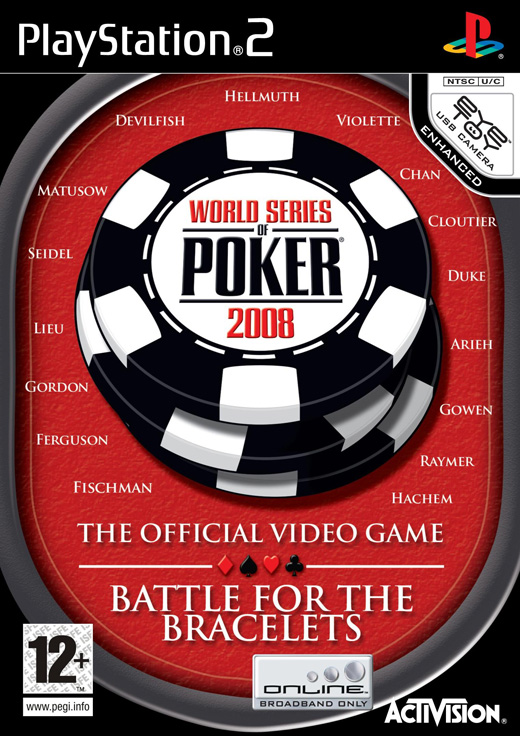 Caratula de World Series of Poker 2008 : Battle for the Bracelets para PlayStation 2